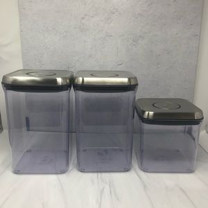 OXO Set of 3 Steel Pop Storage Containers